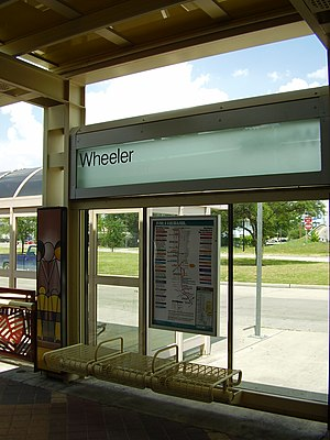 Wheeler (METRORail station) - Wheeler Station