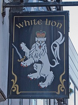 White Lion pub sign - geograph.org.uk - 1027361