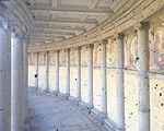 Wiki Loves Art --- Musée Royal de l'Armée et de l'Histoire Militaire ---Fresque vue de la montée vers la vue des Arcades 01.jpg