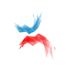The image shows the red and blue logo of Wikimania