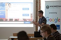 Wikimedia Hackathon Vienna 2017-05-19 Fantastic MediaWikis 011.jpg