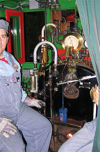 Disneyland Railroad - A view of the backhead inside the cab of the DRR's No. 1 locomotive