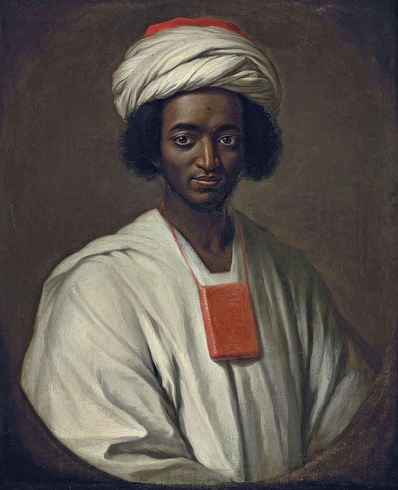 William Hoare, Ayuba Suleiman Diallo (Job ben Solomon), 1733, National Portrait Gallery, London, UK, lent in 2010 by Qatar Museums, Doha, Qatar.