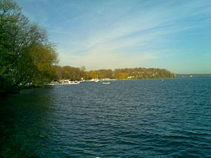 Williams Bay, Wisconsin - Skyline over Geneva Lake