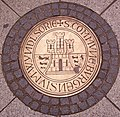 Windsor coat of arms manhole.JPG