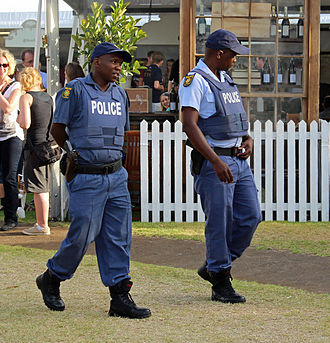 South African Police Service - SAPS officers in Stellenbosch