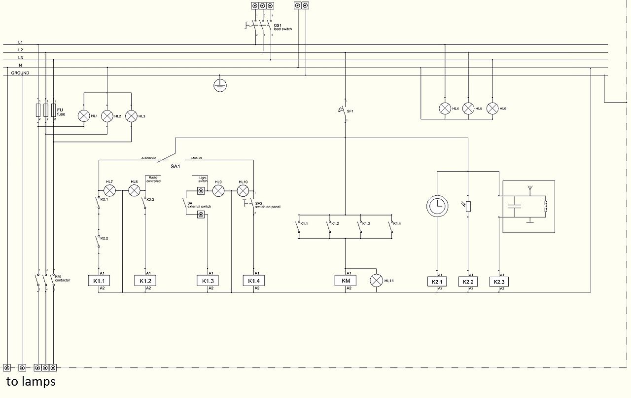 Wiring Diagram Panel Wlc : Control panel wiring schematic symbols free