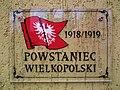 Witkowo Cemetery, Wielkopolskie Uprising tomb (Knast plaque).jpg
