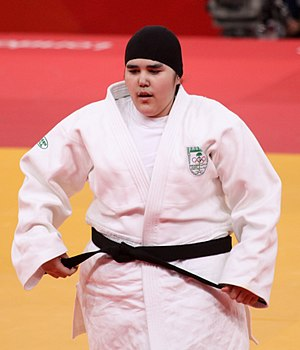 Judo at the 2012 Summer Olympics - Wojdan Shaherkani became the first female competitor from Saudi Arabia to compete at an Olympic Games.