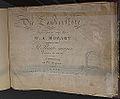 Wolfgang Amadeus Mozart, klavieruitgave Die Zauberflöte, 1e druk, Bonn, 1793, boekencollectie Centre Céramique, Maastricht.JPG