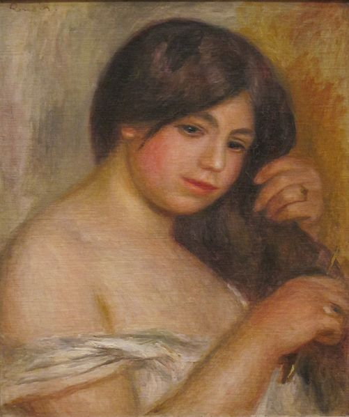 Archivo:Woman Combing her Hair by Renoir, San Diego Museum of Art.JPG