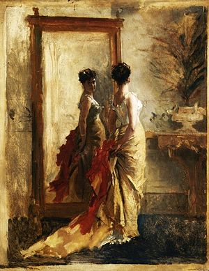 Mosè Bianchi - Image: Woman in front of a Mirror, Mose Bianchi