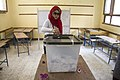 Woman votes in Cairo - 2014-May-27.jpg