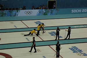 China at the 2014 Winter Olympics - Chinese women's curling team (in yellow)