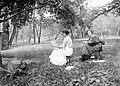 Women, garden, reading, free time, jar Fortepan 3473.jpg