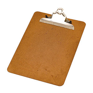 Clipboard - A wooden clipboard