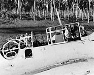 Wrecked TBF-1 VT-8 on Guadalcanal 1942