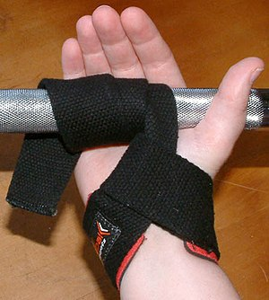 Strength training - Using a wrist strap.