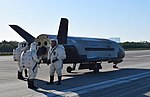 X-37B OTV4 landed at Kennedy Space Center (170507-O-FH989-001).jpg