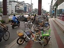 Vélos à assistance électrique en Chine (2008).
