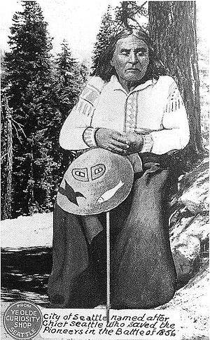 Postcard of Chief Seattle, sold by Ye Olde Cur...