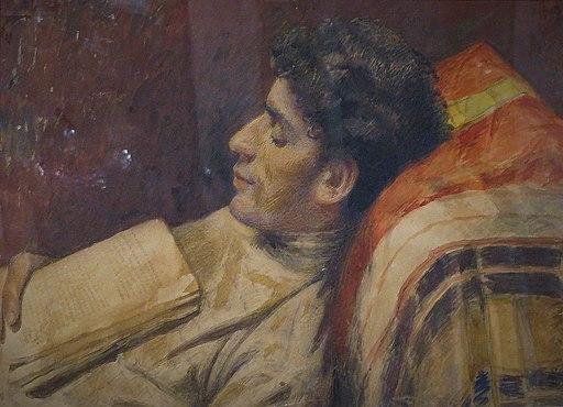 Yehuda Pen. Sleeping man with a Book