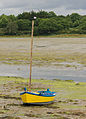 Yellow boat in Conleau, gulf of Morbihan, France.jpg
