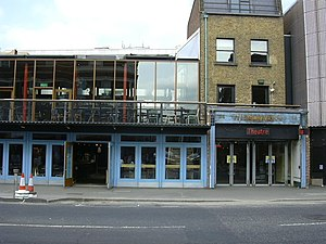 The Cut, London - The Young Vic theatre, halfway along the northern side of The Cut