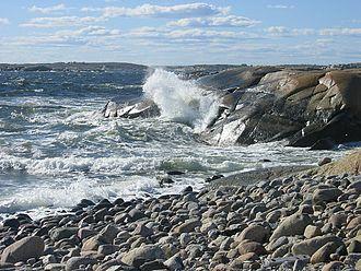 Ytre Hvaler National Park - Image: Ytre Hvaler, Herføl wave