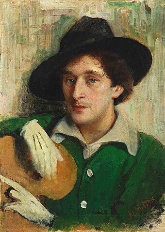 Портрет молодого Шагала кисти его учителя Пэна (1914)