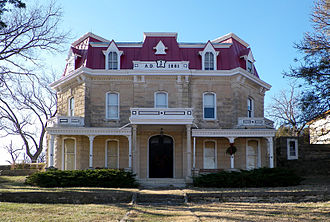 Strong City, Kansas - Spring Hill Ranch House (NRHP) at Tallgrass Prairie National Preserve, 2 miles north of Strong City (2009)