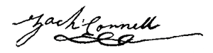Zachariah Connell - Image: Zachariah Connell Signature