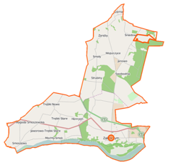 Mapa lokalizacyjna gminy Zakroczym