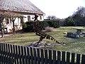 Zdeslavice, Újezd, čp. 23, kovová socha.jpg