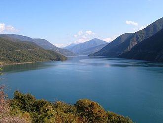 Aragvi River - Image: Zhinvali reservoir