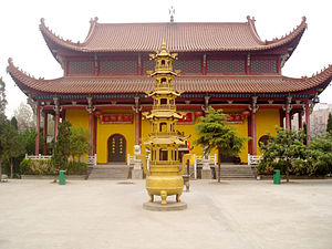 Demographics of China - A pavilion of the Zi Fu Chan Buddhist monastery in Fuyang, Anhui.