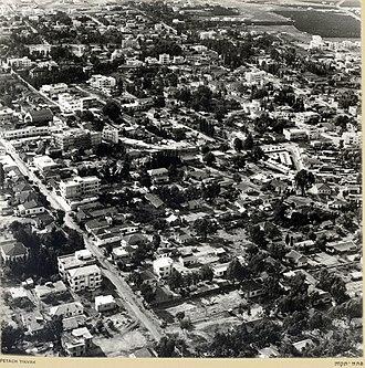 Petah Tikva - Aerial view of Petah Tikva, late 1930s