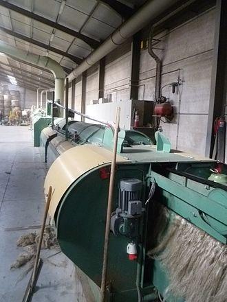 Scutching - Flax scutching machine