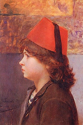 """Alfredo Valenzuela Puelma - Image: """"El niño Fez"""""""