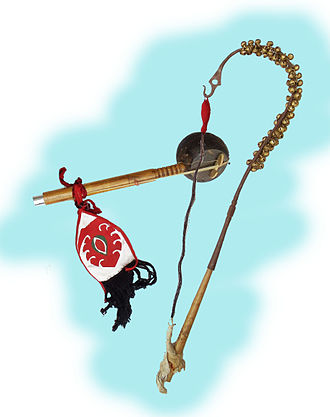 Lai Haraoba - The pena, a musical instrument used in the festival