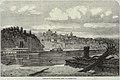 """View of St. Joe, Missouri, from the Kansas side."" St. Joseph, Missouri, viewed across the Missouri River.jpg"