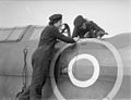 'wrens' Do Maintenance work at Naval Air Station. 4 March 1943, Royal Naval Air Station, Stretton, Lancs. Wrns Are Now Doing Maintenance work at the Aerodromes Where Fleet Air Arm Planes Are Overhaule A15142.jpg