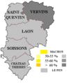 Élection présidentielle 2017 - Aisne - 2 tour (circonscriptions).png