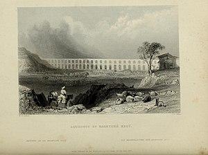 Bahçeköy, Sarıyer - Aqueduct of Bahçeköy in İstanbul between 1809–1838