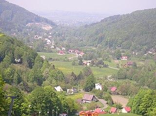 Řeka Village in Moravian-Silesian, Czech Republic