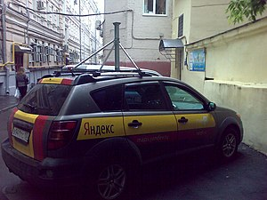 Yandex Maps - Car, shooting panoramas for Yandex Maps