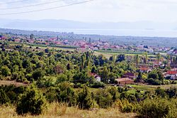 Panoramic view of the village