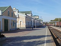 Залізничний вокзал м. Пологи Жовтень 2014.JPG