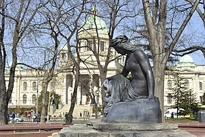 House of the National Assembly of Serbia - Girl With a Pitcher fountain