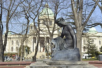 House of the National Assembly of the Republic of Serbia - Girl With a Pitcher fountain